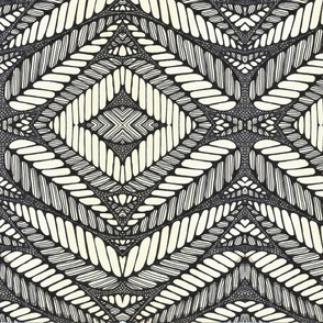 AFRICAN TRIBAL LEAF BLACK AND WHITE!