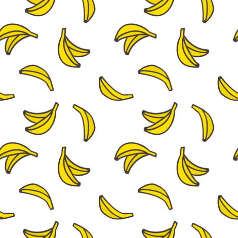 Small bananas fabric by kondratya on Spoonflower - custom fabric