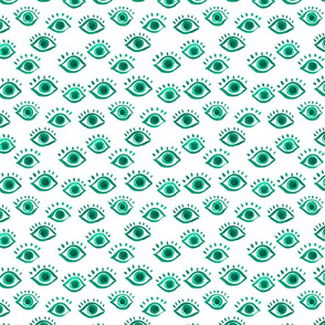 eyes watercolor pattern,
