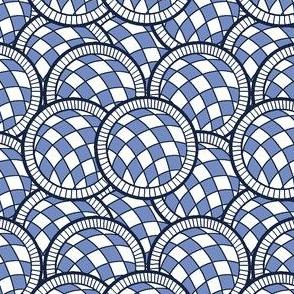 Spanish Tile blue balls all over