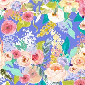 Pastel Garden Spring Floral // Periwinkle