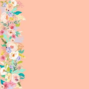 Pastel Garden Spring Floral Border //Peachy