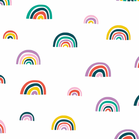 Watercolor Rainbows // Small fabric by hipkiddesigns on Spoonflower - custom fabric