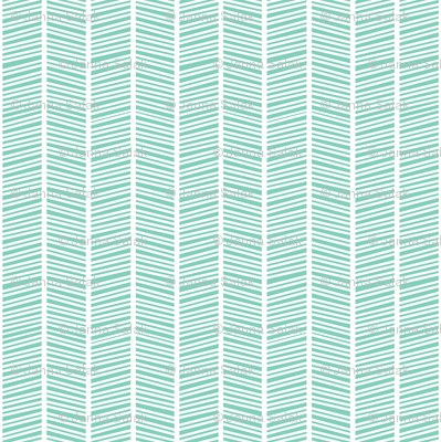 Herringbone Teal Green