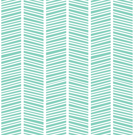 Herringbone Teal Green fabric by jannasalak on Spoonflower - custom fabric