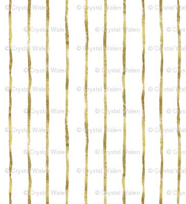 Thin Stripe gold vertical