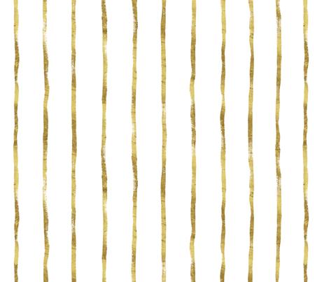 Thin Stripe gold vertical fabric by crystal_walen on Spoonflower - custom fabric