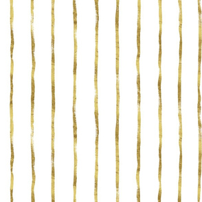 Thin Stripe gold vertical