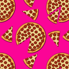 pepperoni pizza pink