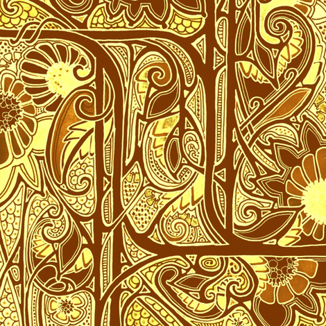 Sunshine and Sunflowers fabric by edsel2084 on Spoonflower - custom fabric