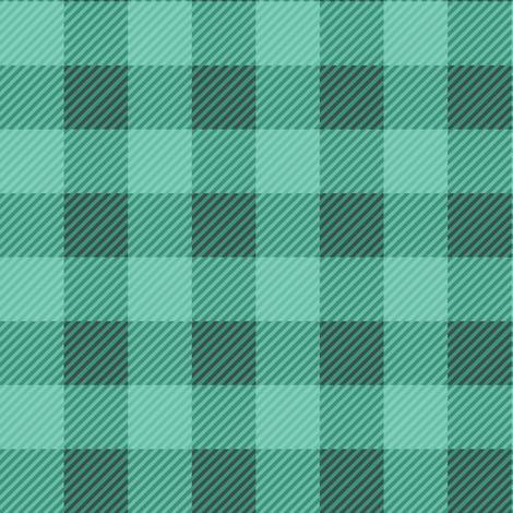Buffalo Plaid Teal Green fabric by jannasalak on Spoonflower - custom fabric
