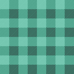 Buffalo Plaid Teal Green