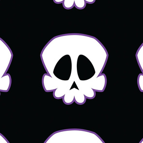 Skulls with purple outline