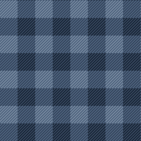 Buffalo Plaid Blue fabric by jannasalak on Spoonflower - custom fabric