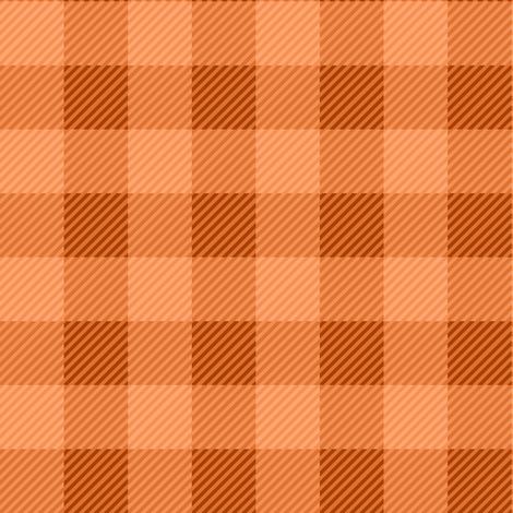 Buffalo Plaid Orange fabric by jannasalak on Spoonflower - custom fabric
