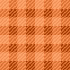 Buffalo Plaid Orange