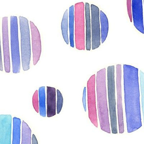 Striped circles