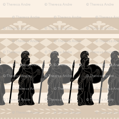 Fierce and Brave Greek Athena