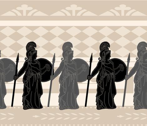 Fierce and Brave Greek Athena fabric by twix on Spoonflower - custom fabric