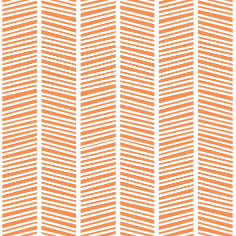 Herringbone Orange fabric by jannasalak on Spoonflower - custom fabric