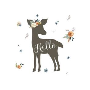 "14""x18"" /  10""x10"" Illustration /  Western Autumn Hello Deer"