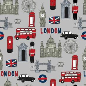 london // brit fabric england tourist international fabric grey