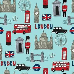 london // brit fabric england tourist international fabric medium blue