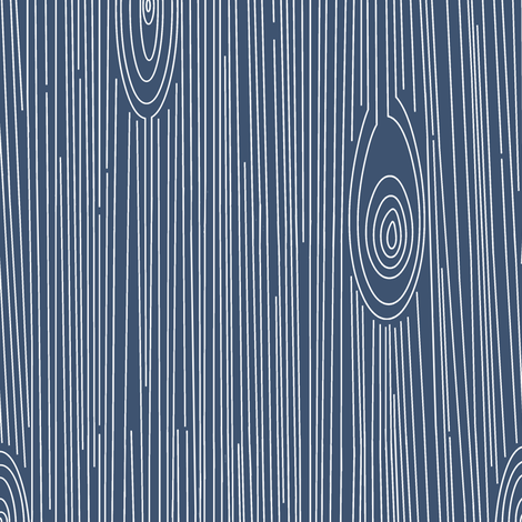 Wood Grain Blue and White fabric by jannasalak on Spoonflower - custom fabric