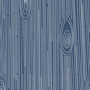 Wood Grain Blue and White