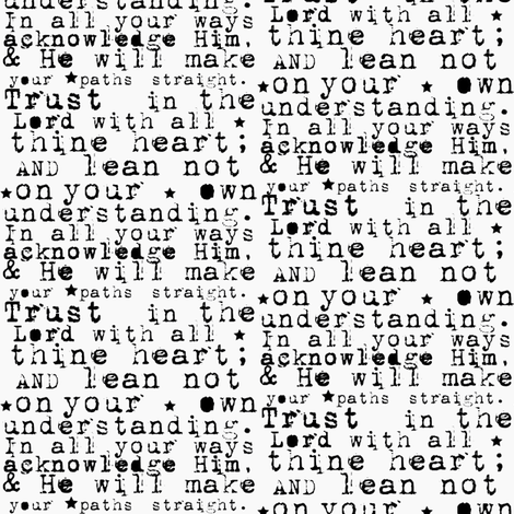 Trust In The Lord Scripture Quote Black Text On White Background