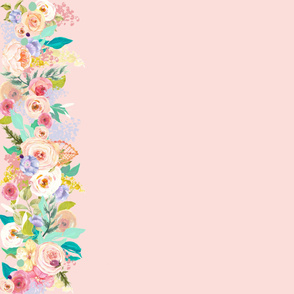 Pastel Garden Spring Floral Border // Light Peachy Pink