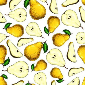 Pear. Summer Fruit Pattern