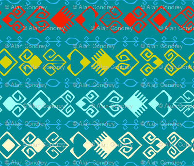 Trail of Hearts Kilim - Blue Small