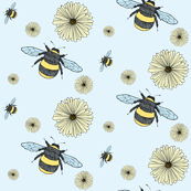 Bumble Bees and Pretty Flowers