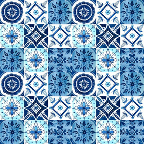 Watercolor Spanish Tiles