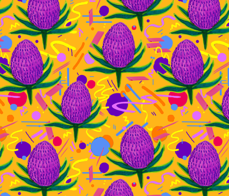 YELLOWBANKSIA fabric by archandya on Spoonflower - custom fabric