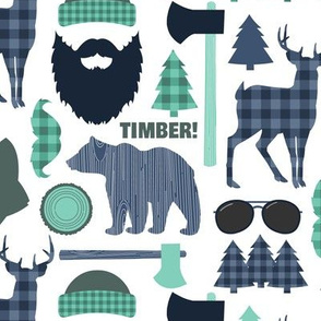 Lumberjack Mountain Blue