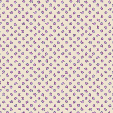 Rosie - cream fabric by raccoons_rags on Spoonflower - custom fabric
