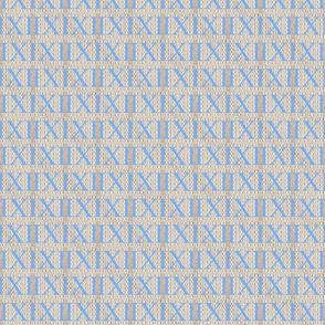 Roman Numerals in Santorini Blue