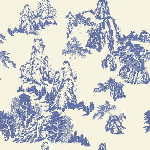 Landscapes by Shirley, Blue Toile on Linen