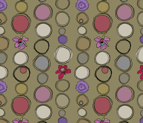 circleStripePurplesReds-01 fabric by donaleekennedy on Spoonflower - custom fabric