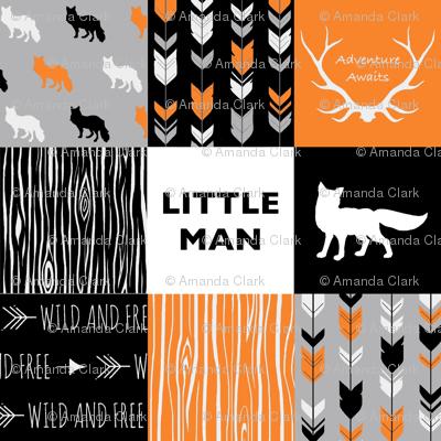 Little Man Fox - Orange,  Grey, Black And White