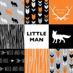 Little Man Fox - Orange,  Grey, Black And White