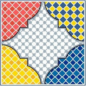 Talavera Multi Geometric Corner Tile
