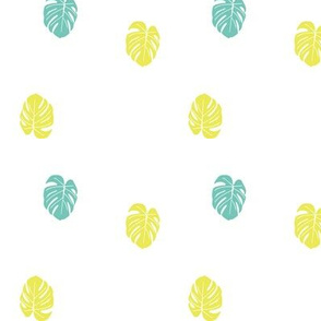Baby Monstera - Turquoise and Yellow