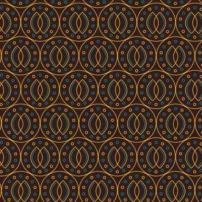Indonesian batik style geometrical seamless patern