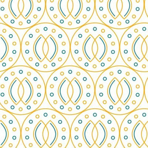 Indonesian batik style geometrical pattern
