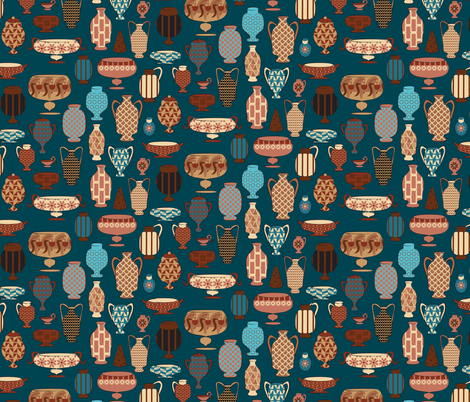 Looks All Greek to Me fabric by colour_angel_by_kv on Spoonflower - custom fabric