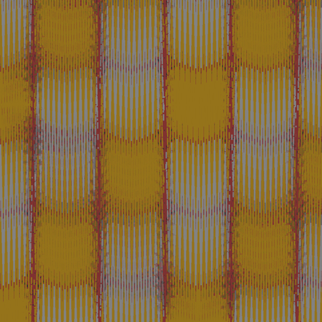 Ikat Thatch (Ochre) fabric by david_kent_collections on Spoonflower - custom fabric