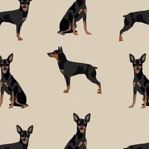 miniature pinscher simple dog fabric doberman pinscher miniature tan